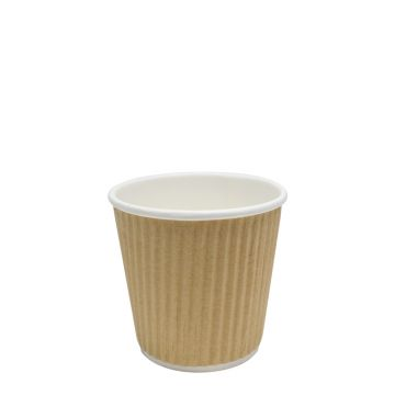 Karat 4oz Ripple Paper Hot Cups - Kraft 62mm) - 1000 ct