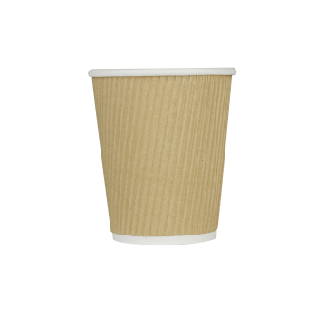 Karat 8oz Ripple Paper Hot Cups - Kraft (80mm) - 500 ct