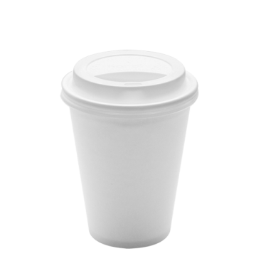 Karat 12oz White Paper Hot Cups and White Sipper Dome Lids (90mm)
