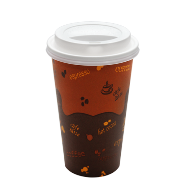 Karat 16oz Generic Paper Hot Cups and White Sipper Dome Lids (90mm)