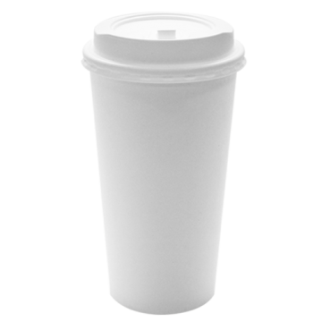Karat 20oz White Paper Hot Cups and White Enclosure Lids (90mm)