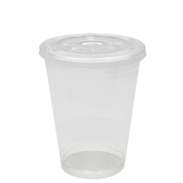 Karat 16oz PET Cold Cups and PET Flat Lids (98mm)
