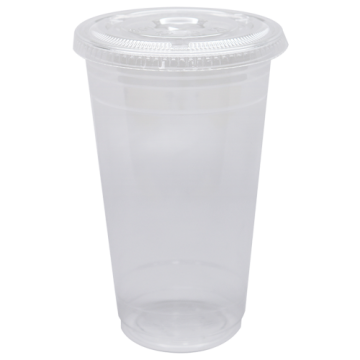 Karat 24oz PET Cold Cups and PET Flat Lids (98mm)