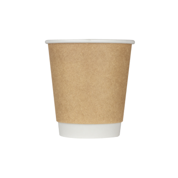 Karat 10oz Wrapped Insulated Paper Hot Cups - Kraft (90mm) - 500 ct