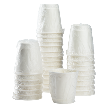 Karat 10oz Wrapped Insulated Paper Hot Cups - White (90mm) - 500 ct