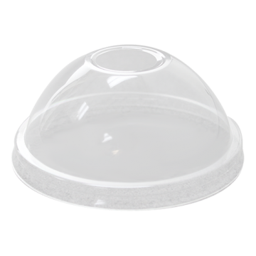 Karat 95mm PP Plastic Dome Lids - 2,000 ct