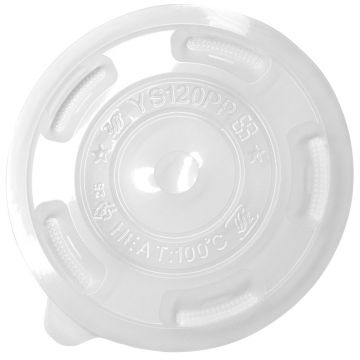 Karat 120mm PP Flat Lids - 1,000 ct, C3002