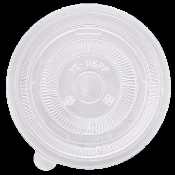 Karat 116mm PP Plastic Flat Lids - 1,200 ct, C3003