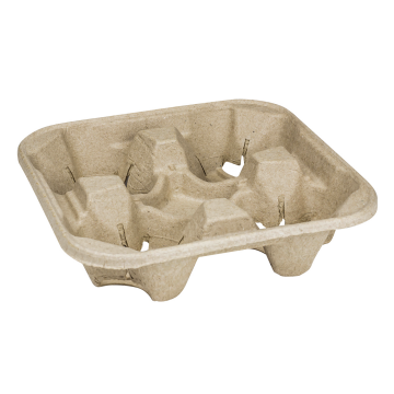 Karat Biodegradable Cup Holder/Carrier - 4 Cups (8 - 32oz) - 300 ct