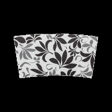 Karat Traditional Cup Jackets - Fleur Black - 1,000 ct, C5300 (Fleur, Black)