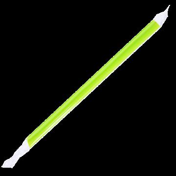 Karat 9'' Boba Straws (10mm) Poly Wrapped - Green - 1,600 ct