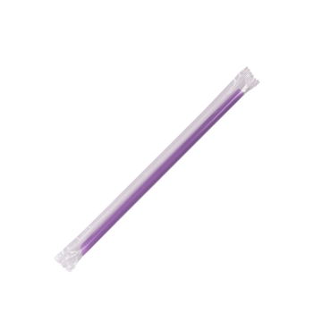 Karat 7.75'' Giant Straws (8mm) Poly Wrapped - Purple - 5,000 ct, C9072