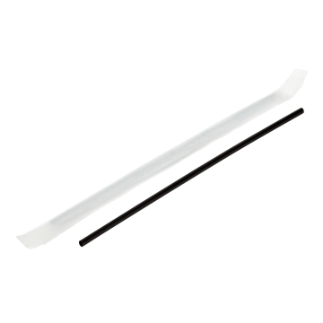 "Karat 7.5"" PP Black Stir Straw Wrapped - 5,000 pcs"