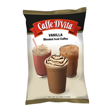 Caffe D'Vita Vanilla Latte Blended Ice Coffee (3.5 lbs)