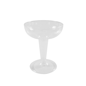 Karat 4oz PS Plastic Champagne Coupe - 240 ct