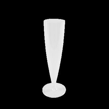 Karat 5oz PS Plastic Champagne Flute - 100 ct