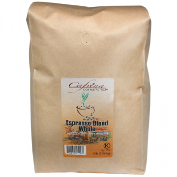 Cafvina Espresso Blend - Whole Bean (5 lbs), F1000