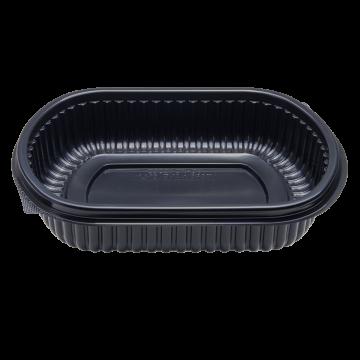 Karat 24oz PP Microwaveable Black Take Out Box - 300 ct