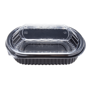 Karat 24oz PP Microwaveable Black Take Out Box with Lids - 300 ct