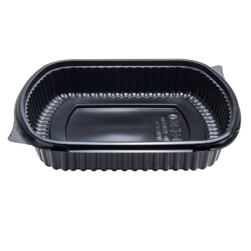 Karat 36oz PP Plastic Microwaveable Black Take Out Box - 300 ct