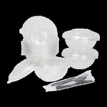 Karat 32oz PET Plastic Salad Bowl - 300 ct