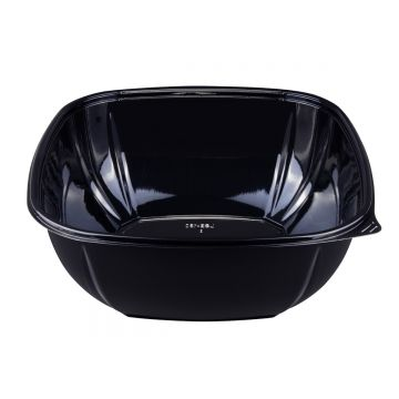 Karat 160 oz PET Square Bowl (Black) - 50 ct