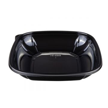 Karat 24 oz PET Square Bowl (Black) - 300 ct