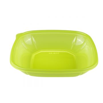 Karat 24 oz PET Square Bowl (Green) - 300 ct