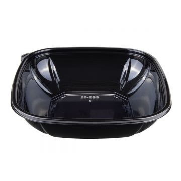 Karat 32 oz PET Square Bowl (Black) - 300 ct