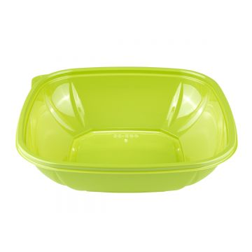 Karat 32 oz PET Square Bowl (Green) - 300 ct