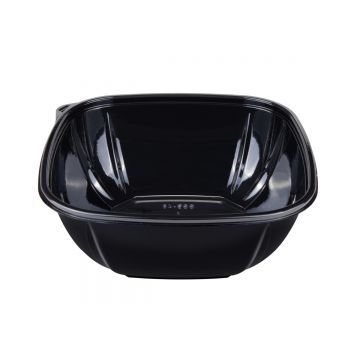 Karat 48 oz PET Square Bowl (Black) - 300 ct