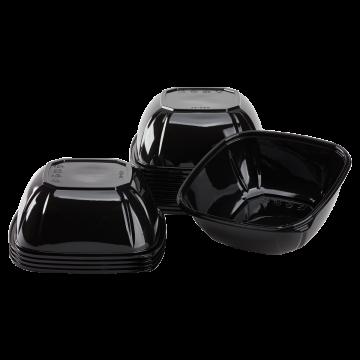Karat 48 oz PET Square Bowl (Black) - 300 ct