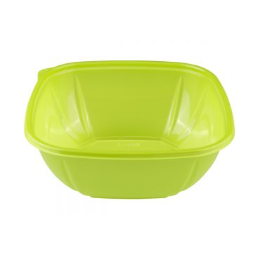 Karat 48 oz PET Square Bowl (Green) - 300 ct