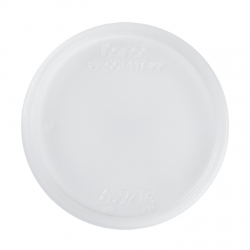 Karat 8-32oz PP Plastic Deli Container Flat Lids - 500 ct
