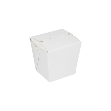 Karat 8oz Food Pail / Paper Take-out Container - White - 450 ct, FP-FP08W