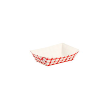 Karat Food Tray - Shepherd's Check (Red) - 0.5 lb