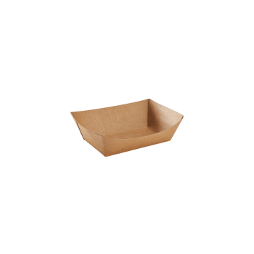 Karat Food Tray (Kraft) - 0.5 lb