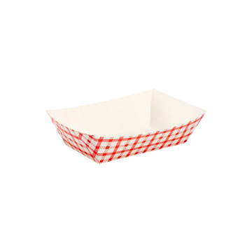 Karat Food Tray - Shepherd's Check (Red) - 2.5 lb