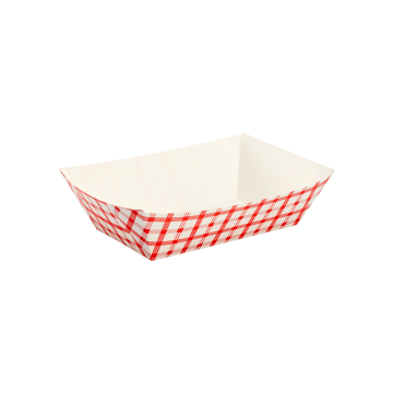 Karat Food Tray - Shepherd's Check (Red) - 3.0 lb