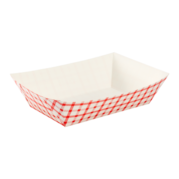 Karat Food Tray - Shepherd's Check (Red) - 5.0 lb