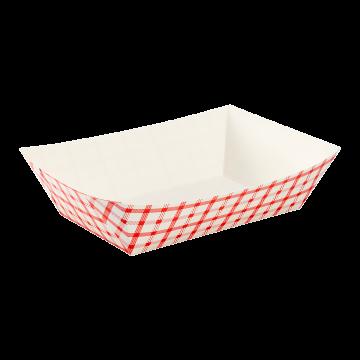 Karat Food Tray - Shepherd's Check (Red) - 5.0 lb