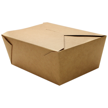 Karat 110 fl oz Fold-To-Go Box #4 - Kraft - 160 ct