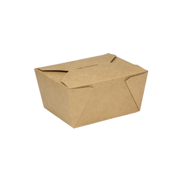 Karat 30 fl oz Fold-To-Go Box #1 - Kraft - 450 ct