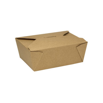 Karat 48 fl oz Fold-To-Go Box #8 - Kraft - 300 ct