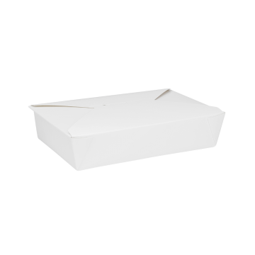 Karat 54 fl oz Fold-To-Go Box #2 - White - 200 ct