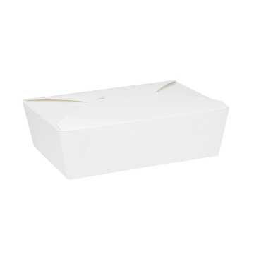 Karat 76 fl oz Fold-To-Go Box #3 - White - 200 ct
