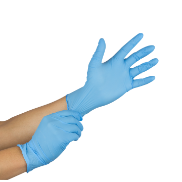 Nitrile Powder-Free Gloves (Blue) - Medium - 100 ct