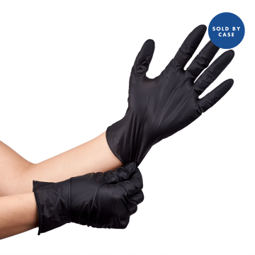 Nitrile Powder-Free Gloves (Black) - Small - 1,000 ct