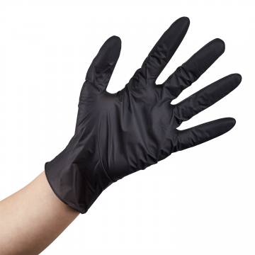Karat Nitrile Powder-Free Gloves (Black) - Small - 1,000 ct