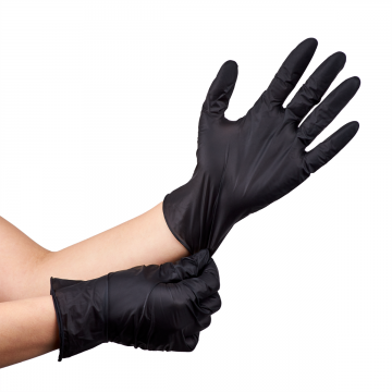 Nitrile Powder-Free Gloves (Black) - Small - 100 ct